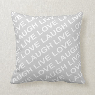 Grey White Love Pattern Pillow