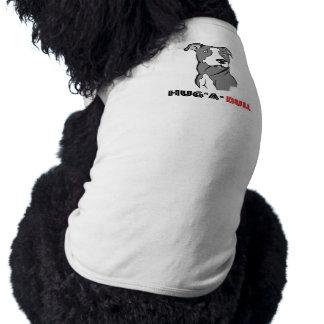 Grey & White Pitbull Sketch Hug-a-Bull Sleeveless Dog Shirt