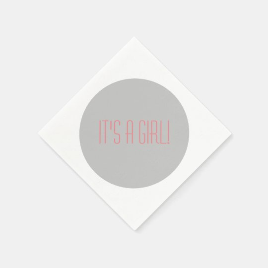 Grey & white polka dot cocktail napkins paper