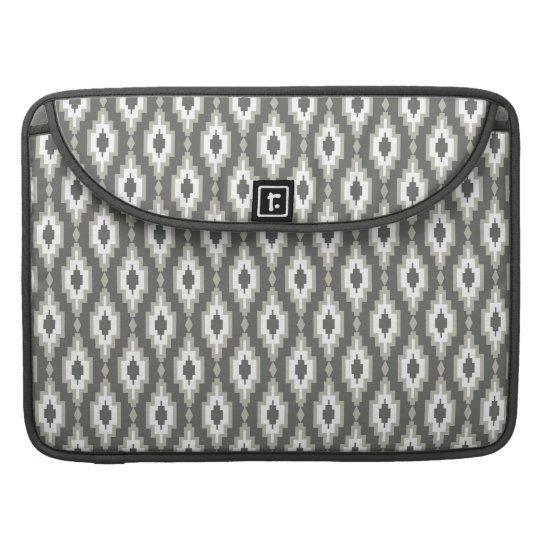 """Grey & White rhombuses Macbook Pro 15"""" Sleeve"""