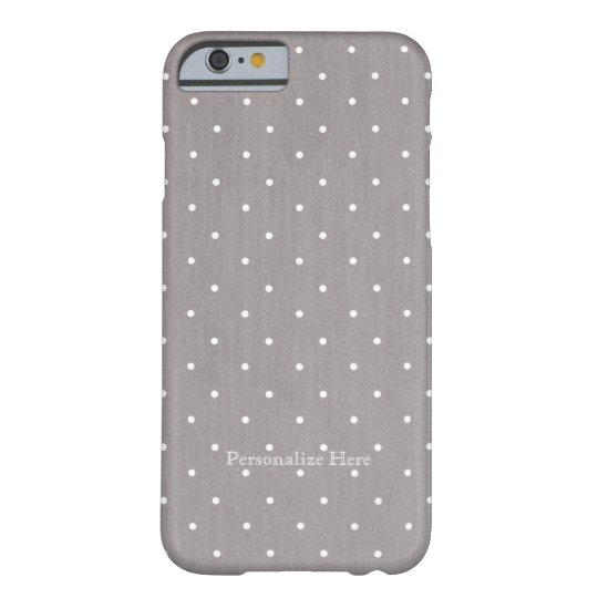 Grey & White Small Polka Dots Modern Chic