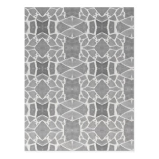 Grey White Stone Tiles Mosaic Pattern Postcard