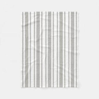 Grey & White Striped Blanket