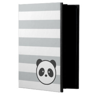 Grey & White Striped Panda Case For iPad Air