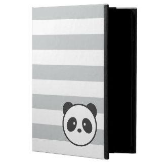 Grey & White Striped Panda iPad Air Cover
