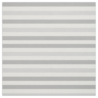 Grey White Stripes Fabric