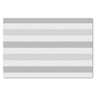 Grey White Stripes Tissue Paper