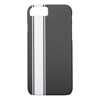 Grey & White Team Jersey Stripe iPhone 7 Case