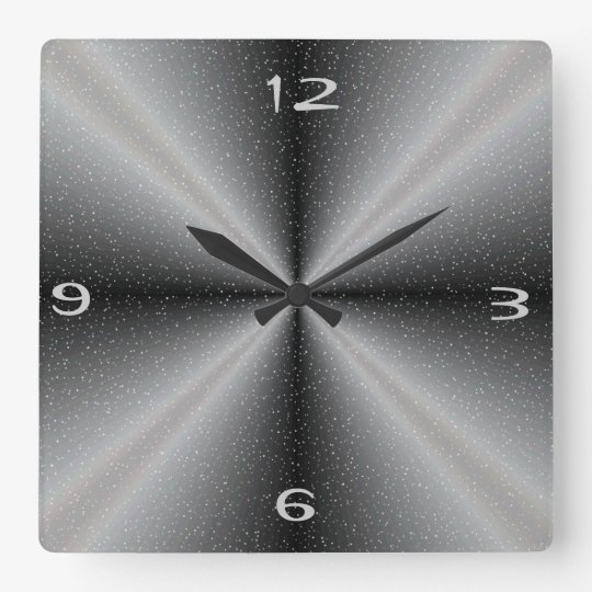 Grey /white with Snow Background >Wall Clocks