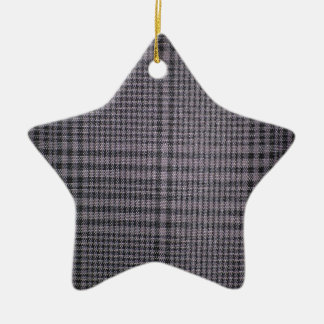 Grey-with-black-textile1011 GREY  TEXTILE PATTERN Christmas Tree Ornament
