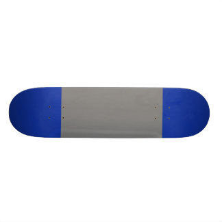 Grey with Egyptian Blue Tips Skate Deck