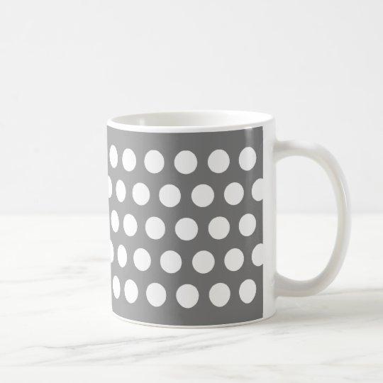 Grey with Polka Dots Coffee Mug
