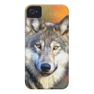 Grey Wolf Art Painting iPhone 4 Covers