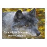 Grey Wolf Art Wildlife Supporter Xmas Card