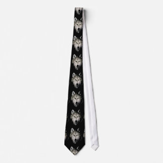 Grey Wolf Artwork Neck Tie