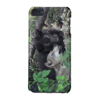 Grey Wolf Cubs Wildlife-Supporter Ipod Case iPod Touch 5G Cases
