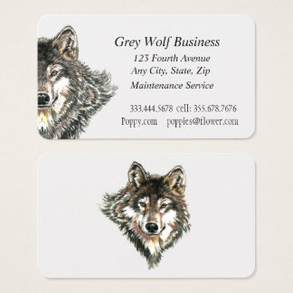Grey Wolf Custom Business Cards