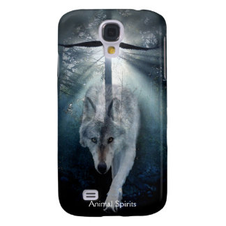Grey Wolf & Eagle Wildlife Spirits Galaxy S4 Case