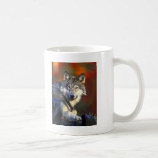 Grey Wolf, Endangered Species Digital Photography Basic White Mug