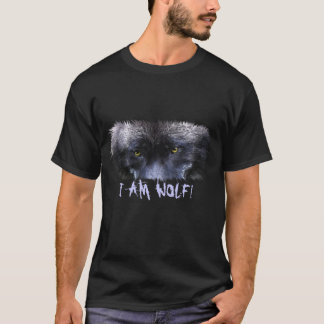 "Grey Wolf Eyes ""I Am Wolf"" Wildlife Art T-Shirt"