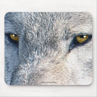 Grey Wolf Eyes Wildlife Art Mousemat