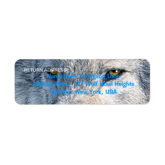 GREY WOLF EYES Wildlife Return Address Labels