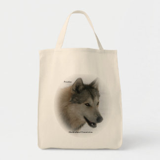 Grey Wolf Grocery Tote Bag