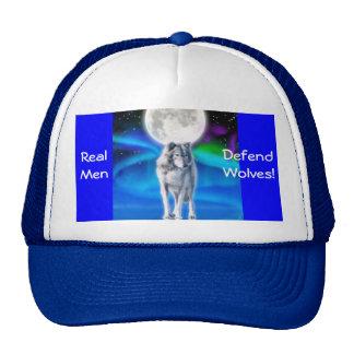 Grey Wolf, Moon & Aurora Wildlife Supporter Hat