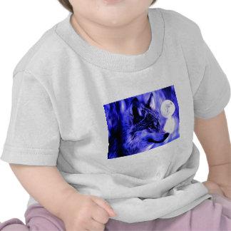 Grey Wolf & Moon Tee Shirt