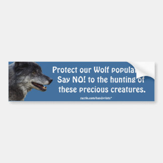 Grey Wolf Motivational Gifts Bumper Sticker