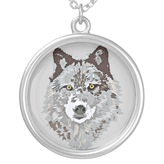 Grey Wolf Necklace