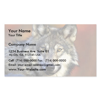 Grey wolf pack of standard business cards
