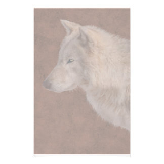 Grey Wolf Portrait Wildlife Art Customised Stationery