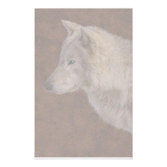 Grey Wolf Portrait Wildlife Art Stationery