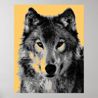 Grey Wolf Poster Print