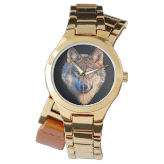 Grey wolf - wolf face watch