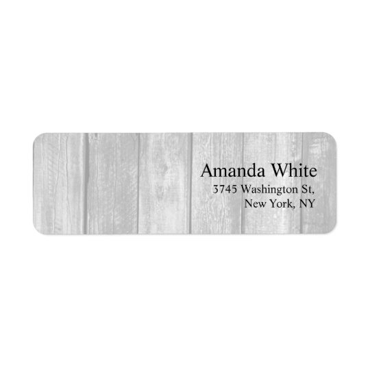 Grey Wood Plain Elegant Minimalist Modern Return Address