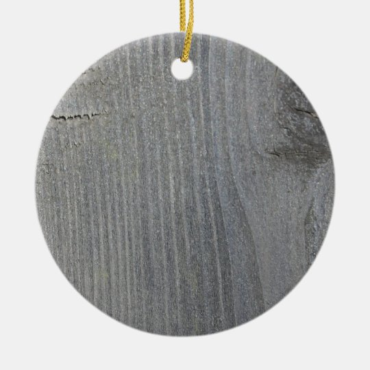 Grey Wooden Board Christmas Ornament