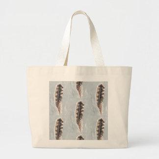 Grey Woodland Flicker Large Tote Bag