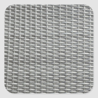 Grey woven webbing background square sticker