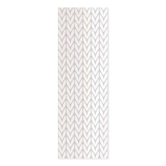 Grey Yarn Chevrons Knit Pattern Style Pack Of Skinny Business Cards