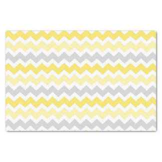 Grey Yellow Chevron Pattern Tissue Paper