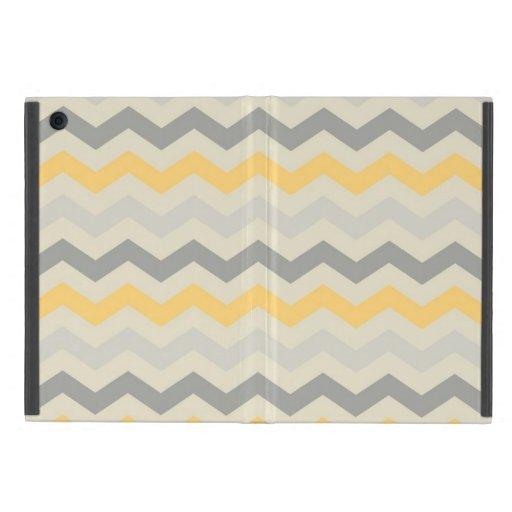 Grey yellow chevron zigzag print zig zag pattern Zazzle