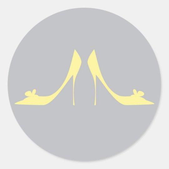 Grey & Yellow Heels Sticker