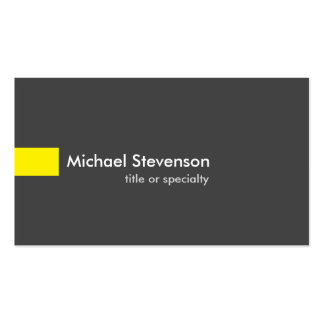 Grey Yellow Modern Unique Consultant Pack Of Standard Business Cards