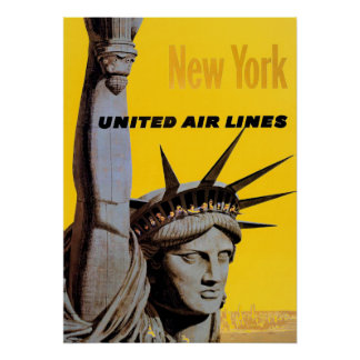 Grey Yellow New York City Travel Poster