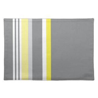 Grey (Yellow stripe) Placemat