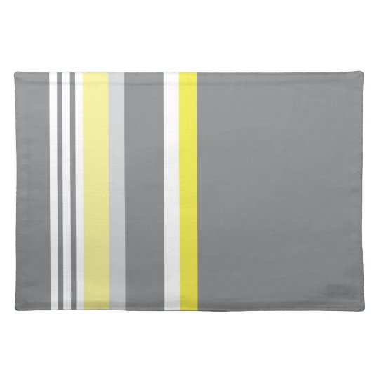 Grey (Yellow stripe) Placemat