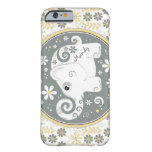 Grey Yellow White Elephant Floral iPhone 6 case Barely There iPhone 6 Case