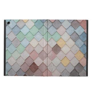 grey yellow white tiles pattern ipad cover